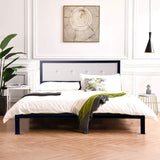 Bosonshop Mordern Full Size Platform Bed with Frame, Black, 14inch