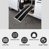 Portable Wheelchair Ramp 6Ft, Add to Your Independence, 600 LBS Capacity, Folding Aluminum Alloy Ramp