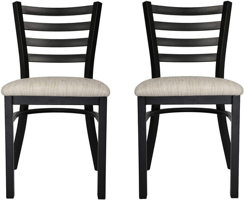 Mid-Century Modern Dining Room Chair With White Seat Set of 2 With Ergonomic Curved Back Metal Frame Classy Kitchen Side Chair