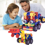 Bosonshop Novelty Design DIY 3D Building Blocks Vehicle Sets Favors Birthday Gift