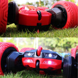 Bosonshop Stunt RC Car Double Sided Rotating Tumbling Ransformation 360 Degree/RED