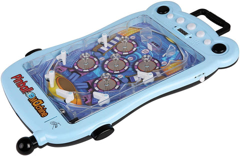 Pinball Machine for Kids Portable Tabletop Game with Scorer and Lights and Sounds Parent-Child Interactive Game Pinball Toys, Blue