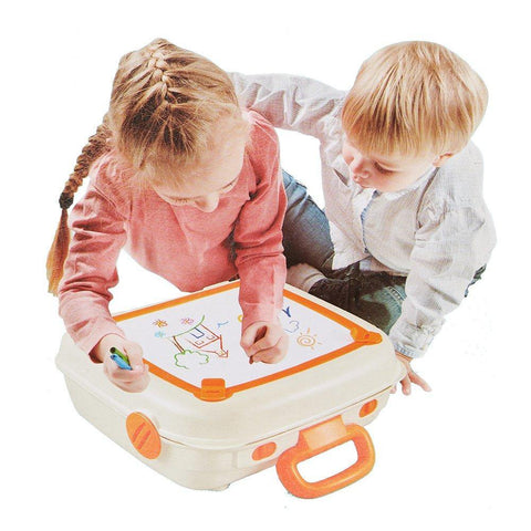 Bosonshop Portable Travel Suitcase Painting Toy for Kids