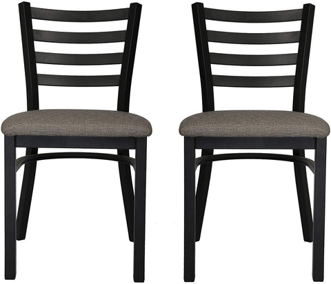 Mid-Century Modern Dining Room Chair Set of 2 with Ergonomic Curved Back Metal Frame Classy Kitchen Side Chair