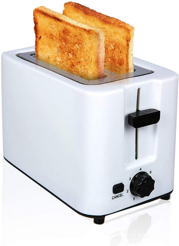 2 Slice Toaster with 2 Extra Wide Stainless Steel Slots, Toaster Oven with 7 Heating Sets
