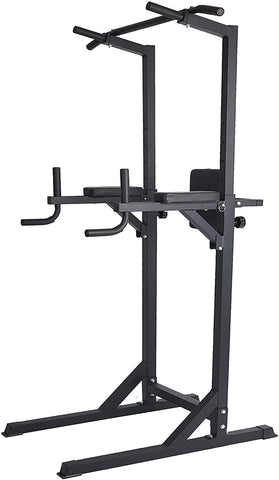 Power Tower Adjustable Multi-Function Strength Training Dip Stand Workout Station Fitness Equipment for Home Gym