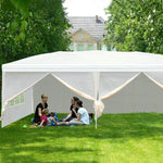 Outdoor Canopy Tent 10 x 19.7ft Patio Sun Shade with Mosquito Netting and Carry Bag for Wedding Party(White)