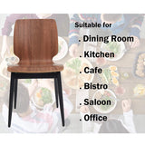 Bosonshop 4 Set Modern Dining Chairs Wooden Kitchen Side Chairs with Metal Legs