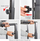 Adjustable Multi-Function Strength Training Dip Stand Station Pull Push Up Bar For Home Gym