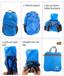 Bosonshop 20L Waterproof Portable Travel Folding Backpack Fold Tote Bag for Travel, Camping