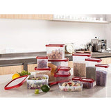 Bosonshop 16 Piece Food Storage Container Set with Easy Find Lids,BPA Free and 100% Leak Proof, Plastic