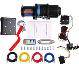 4500lbs Electric Winch 12V DC ATV Winch, Steel Rope with Wireless Handheld Remote, Waterproof