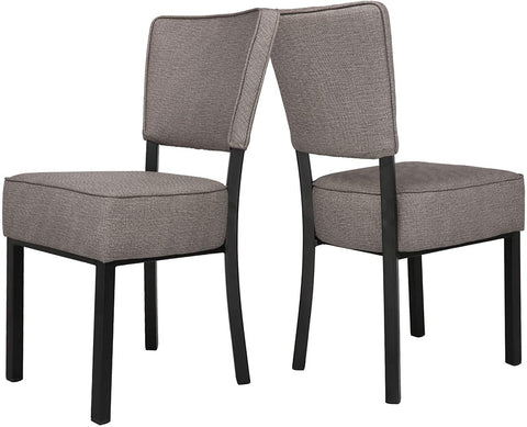 Classic Dining Chair Set of 4, Modern Style Family Leisure Chair with Stainless Steel Legs,PU Leather High Back Side Chair