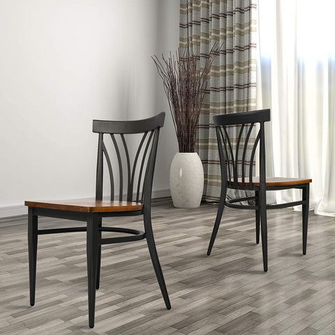 Modern Industrial Kitchen Dining Chairs Set of 2
