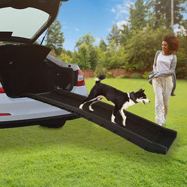 Folding Portable Pet Ramp Gear for Dogs Cats Durable Lightweight Pet Supports Up to 150 Lb