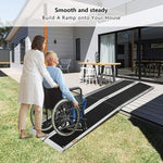8Ft Ramp For Wheelchair, Multi-fold Wheelchair Ramps, w/Anti-Slip Carpeted Stairs, Mobility Handicap Suitcase For Doorways, Stairs, Mobility Scooter
