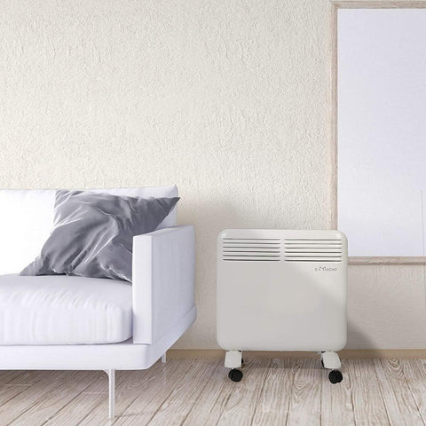 750W Space Heaters  Electric  Full Room Quiet Convection Panel Heater With Wheels/Wall Built-Up, Room Heater For Bedroom, Home, Office