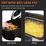 3.7Qt Multifunction Digital Air Fryer Electric Air Fryer With Digital Touch Screen Temperature Controls