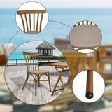 Dining Chairs Armless with Backrest Urban Style Kitchen Chairs Dining Bistro Cafe Aluminum Chairs Textile Fabric Seat
