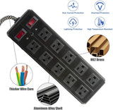 Surge Protector Power Strip with Outlets  Ports 6-Foot Cord for Home, Office -Black