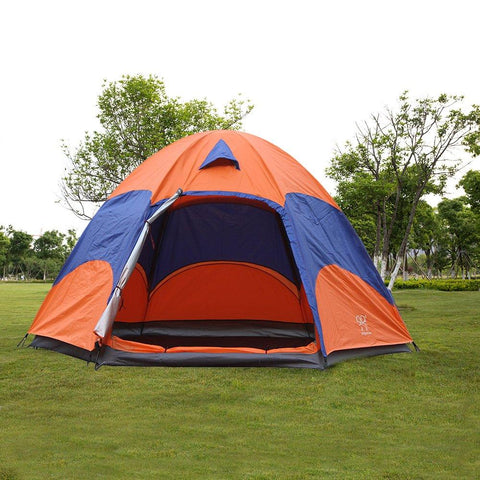 Bosonshop 3-4 Person Easy Setup Double Tent Waterproof Moisture-proof, Orange