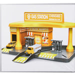 Bosonshop Yellow Gas Station Toy Playset Educational Toys for Kids 3 and up