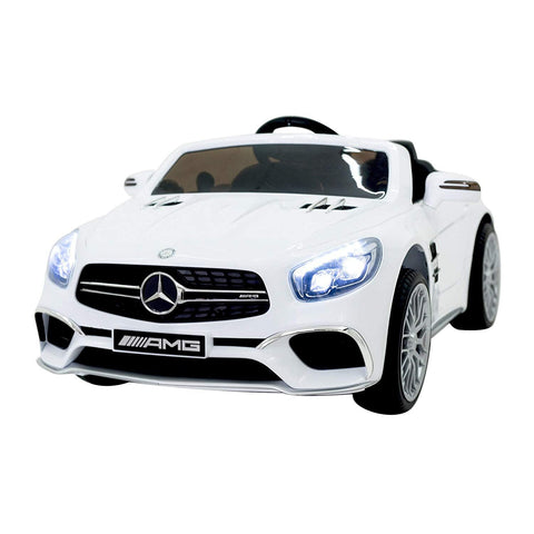 Bosonshop 12V Kids Electric Ride On Car with Remote Control, LED Lights & MP3 for Boys and Girls