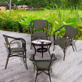 Bosonshop Indoor Outdoor Use Garden Lawn Backyard Bistro Cafe Stack Chair,All Weather Resistant