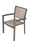 Set of 4 Outdoor Patio Dining Chairs Aluminum Frame Balcony Rattan Wicker Furniture Chair All-Weather Arm Chair