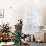 Bosonshop 6FT Premium Spruce Artificial Christmas Tree w/Metal Stand, White