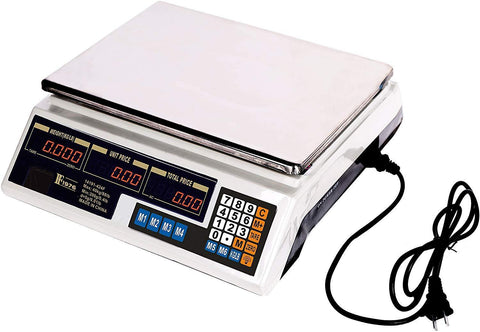 Bosonshop 88 Lbs Electronic Price High Precision Food Meat Digital Weighting Scale with LCD Screen,Steel