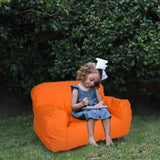 Bosonshop Kids Bean Bag Chair Self-rebound Sponge Double Children Lounger Sofa Bean Bags Seats for Toddlers Orange