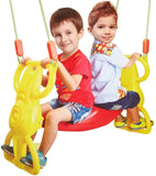 Bosonshop Multi-Child Swing Set Back to Back Rider Glider