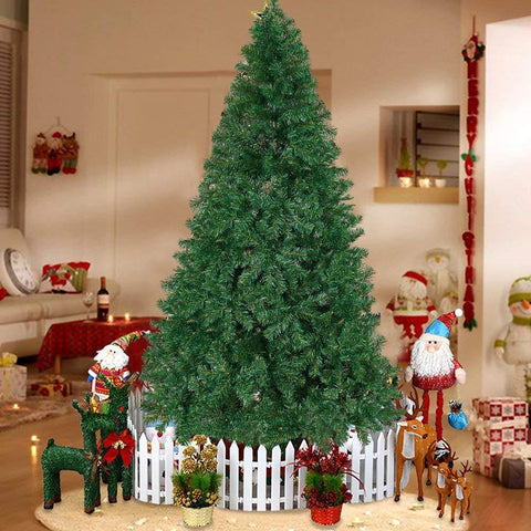 Bosonshop 10' Premium Spruce Artificial Christmas Tree W/Metal Stand, Green (Green, 10-Ft)