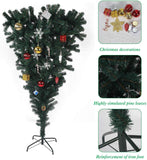 Bosonshop 5FT Upsidedown Premium Artificial Christmas Tree with Solid Metal Stand, Festive Indoor and Outdoor Decoration