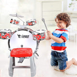 Bosonshop Kid's Jazz Musical Instrument Drum Play Set with 5 Drums and 1 Chair