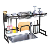 "Over Sink Dish Drying Rack Stainless Steel Kitchen Supplies Storage Shelf Drainer Organizer, 35""x 12.2""x 20.4"""