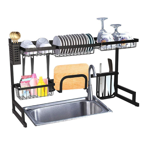 "Over the Sink Dish Drying Rack Stainless Steel, 35""x12.2""x20.4"""