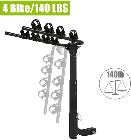 "4 Bike Rack Hitch Mount Folding Bicycle Carrier 2"" Receiver Car SUVs & Minivans"