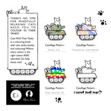 Cats With Their Tanks - Colouring Book