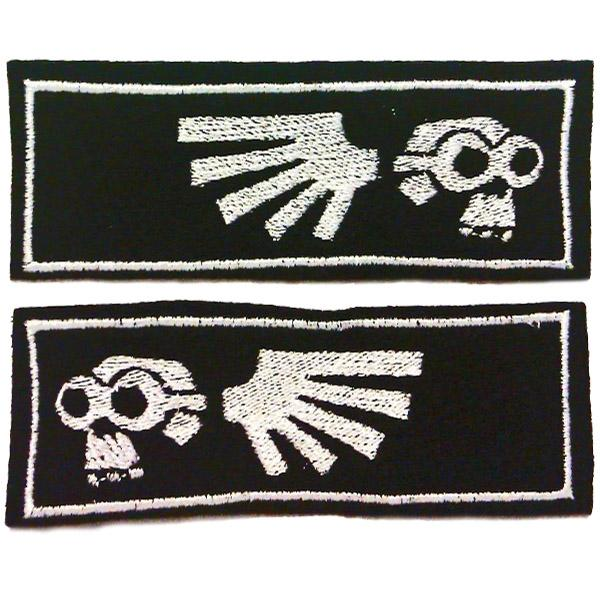 """Doom-Goggle"" Embroidered Collar Trim Pair-Doctor Geof"