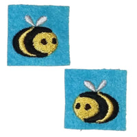 "First Tea Company ""Bees"" Embroidered Pips Pair-Doctor Geof"
