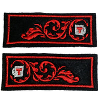 "First Tea Company ""Brewmaster"" Embroidered Collar Trim Pair-Doctor Geof"