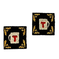 "First Tea Company ""Decorative 2"" Embroidered Pips Pair-Doctor Geof"