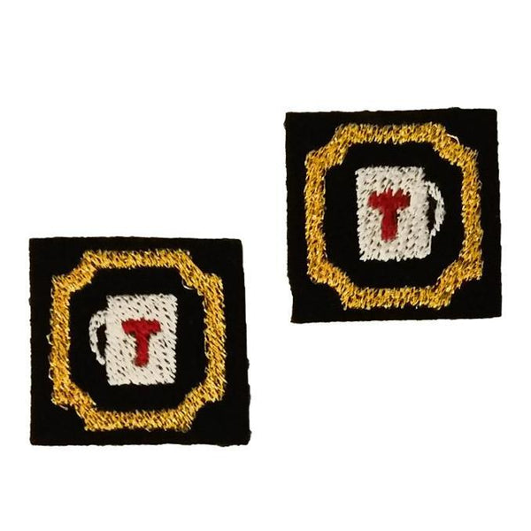 "First Tea Company ""Framed 4"" Embroidered Pips Pair-Doctor Geof"