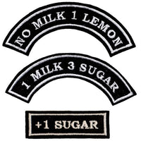 "First Tea Company ""Milks & Sugars"" Customisable Patch-Doctor Geof"
