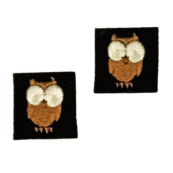 "First Tea Company ""Owl"" Embroidered Pips Pair-Doctor Geof"