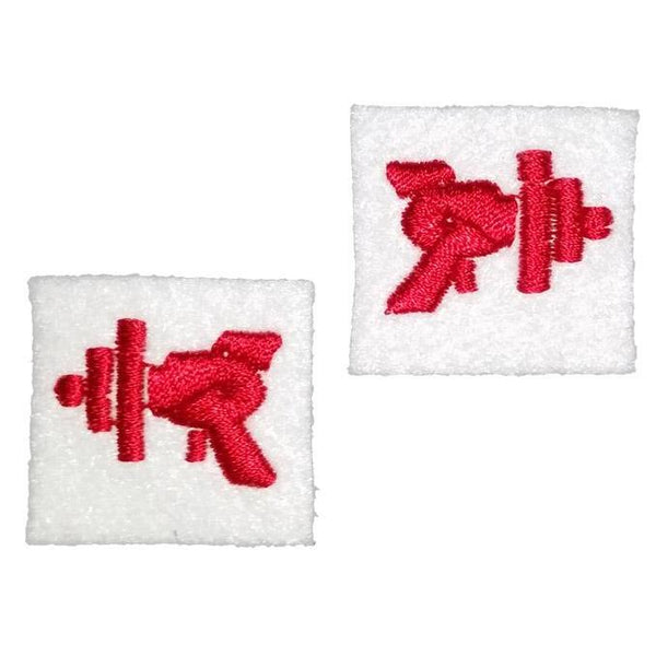 "First Tea Company ""Ray Gun"" Embroidered Pips Pair-Doctor Geof"