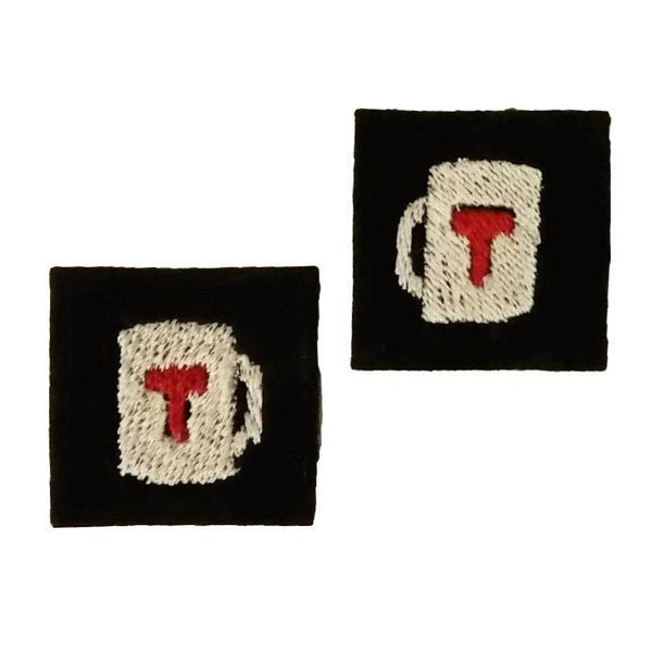 "First Tea Company ""Regulation 1"" Embroidered Pips Pair-Doctor Geof"