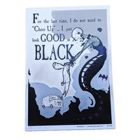 """Good In Black"" A3 Print-Doctor Geof"